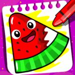 Fruits Coloring book & Food Drawing book Kids Free 2.4.7  MOD