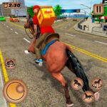 Mounted Horse Riding Pizza Guy: Food Delivery Game 1.0.4 MOD