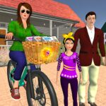 Working Mom Newspaper Girl Family Games 1.20 MOD
