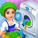 Laundry Shop Clothes Washing Game  MOD 1.22
