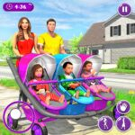 New Mother Baby Triplets Family Simulator 1.2.5 MOD