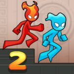 Fire and Water Stickman 2 0.5.2  MOD (Unlimitheart)